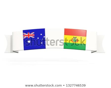Stock fotó: Szalag · kettő · tér · zászlók · Ausztrália · Bolívia