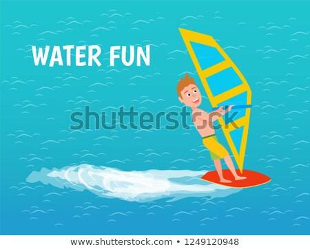 água diversão masculino menino cartaz vetor Foto stock © robuart