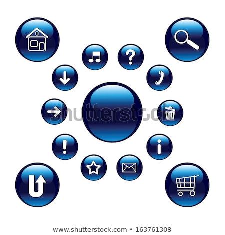 Colorful Shiny round button with phone mark Stock photo © Blue_daemon