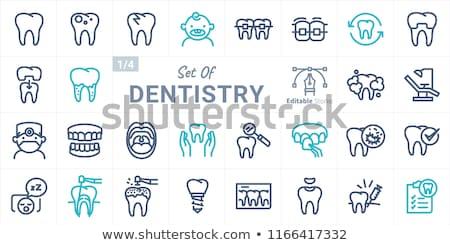 braces line icon stock photo © smoki