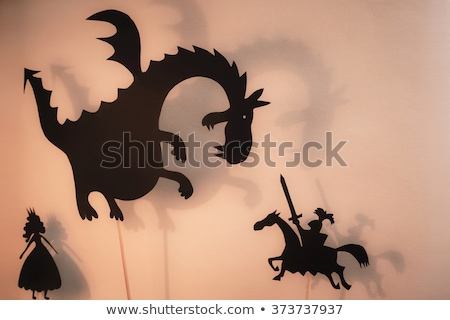 Prens kavga ejderha sahne örnek su Stok fotoğraf © bluering