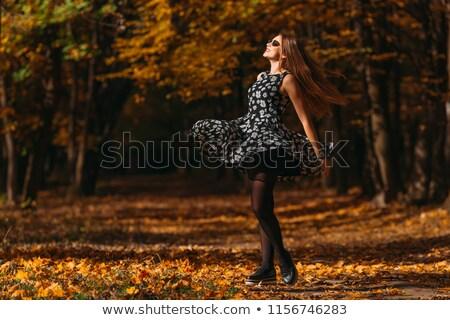 甘い · 女性 · 美しい · ドレス · ダンス · 公園 - ストックフォト © ElenaBatkova