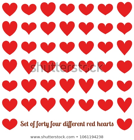 Heart shape red sticker Stock photo © biv