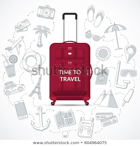 Time to Travel Luggage and Bags on Vacation Web Stock photo © robuart