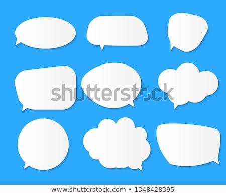 Weiß Papier blau Gruppe Wolke Stock foto © olehsvetiukha