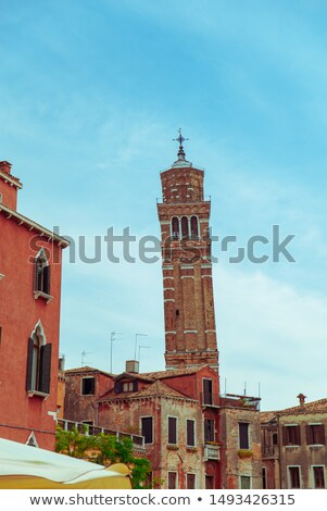 Santo Stefano bell-tower in Venice, Italy Stock photo © boggy