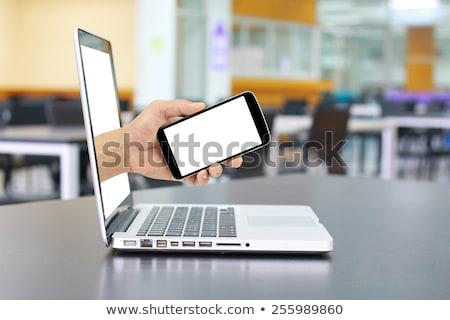 ラップトップコンピュータ · 郡 · 拳銃 · キーボード · インターネット · ノートパソコン - ストックフォト © ra2studio