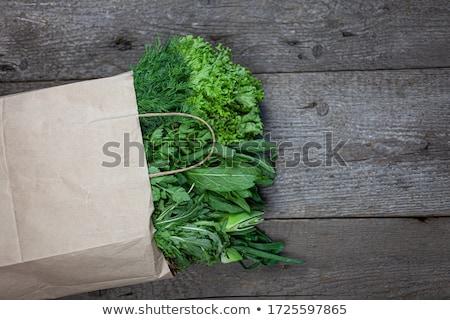 Yeşil soğan pazar taze çiftçiler bahar yaprak Stok fotoğraf © vapi