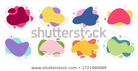 set of sale labels abstract liquid shapes isolated stock photo © robuart
