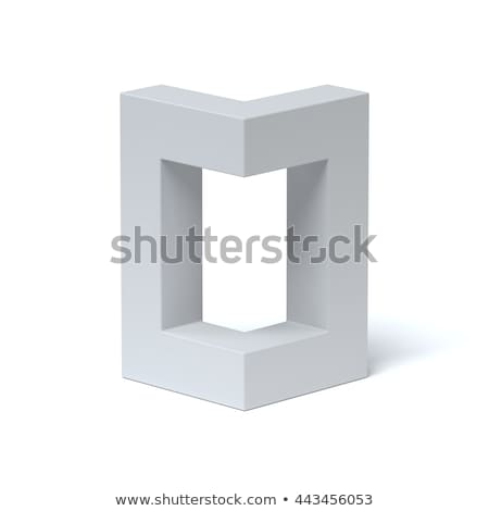 Blue extruded font Letter O 3D Stock photo © djmilic