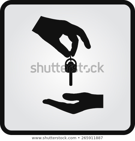 Car Key in Human Hand Flat Vector Illustration Stock photo © robuart