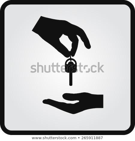 emberi · kéz · terv · stílus · üzletember · pálma · szemben - stock fotó © robuart