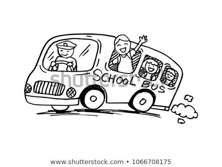 komik · karikatür · şehir · bo · araba · trafik - stok fotoğraf © frimufilms