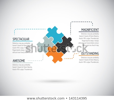 vector business card template puzzle pieces design stock photo © blumer1979