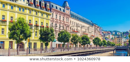 historical center of karlovy vary czech republic stock photo © borisb17