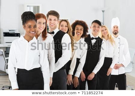 groep · hotel · chefs · permanente · samen · vrouw - stockfoto © wavebreak_media