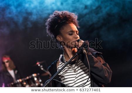 band · zanger · beetje · pompen · omhoog - stockfoto © robStock