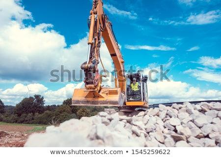 女性 掘削機 道路 建設現場 公共 作業 ストックフォト © Kzenon