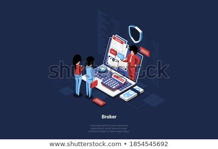 graph report people counting percent vector stock photo © robuart