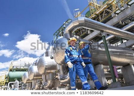 raffinaderij · plant · industrie · fabriek · gas · buitenshuis - stockfoto © brianguest