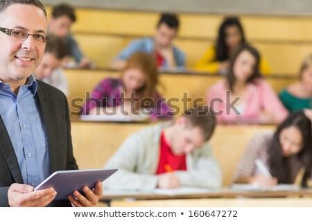Professor palestra ouvir educação escola secundária Foto stock © dolgachov