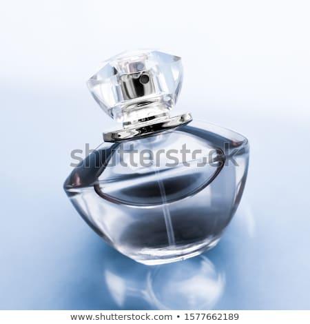 Kék parfüm üveg fényes édes virágmintás Stock fotó © Anneleven