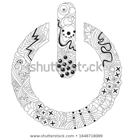 Zentangle stylized On Off switch - vector icon for coloring. Hand Drawn lace vector illustration Stock photo © Natalia_1947