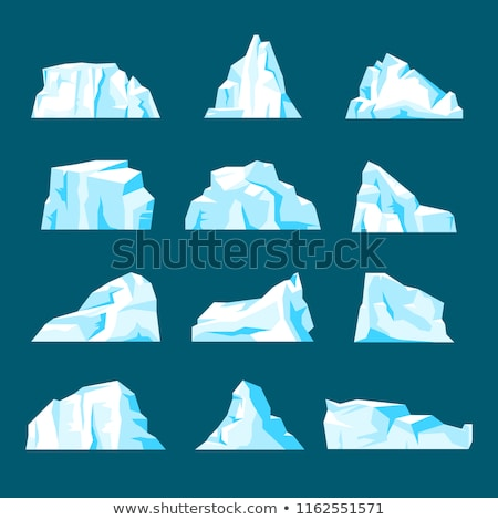 vector symbol of arctic winter ice mountain,  iceberg Stock photo © freesoulproduction