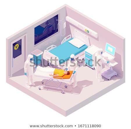 Vector isometric hospitalization with coronavirus Stock photo © tele52