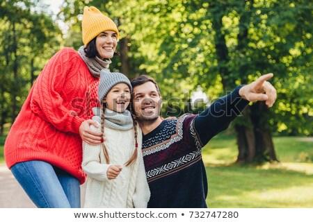 Dobre atmosfera rodziny harmonia szczęśliwą rodzinę Zdjęcia stock © vkstudio