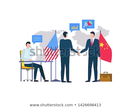 People Shaking Hands, Business with China Vector Stock photo © robuart