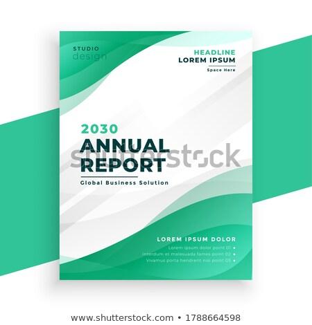 Elegáns türkiz szín éves jelentés üzlet Stock fotó © SArts