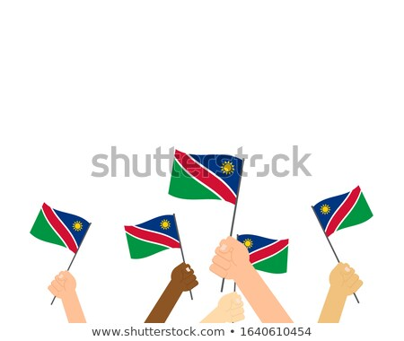 Namibia bandera mano blanco fondo viaje Foto stock © butenkow