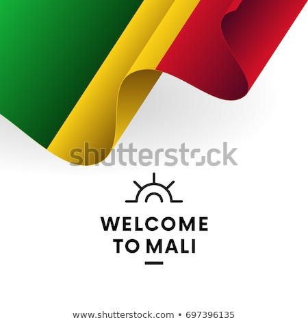 Mali flag, vector illustration on a white background. Stock photo © butenkow