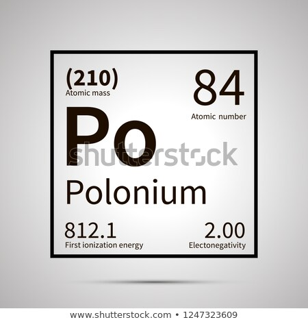 Polonium chemical element with first ionization energy, atomic mass and electronegativity values ,si Stock photo © evgeny89