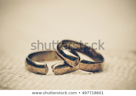 Separated Broken Wedding And Engagement Rings Stock photo © AndreyPopov