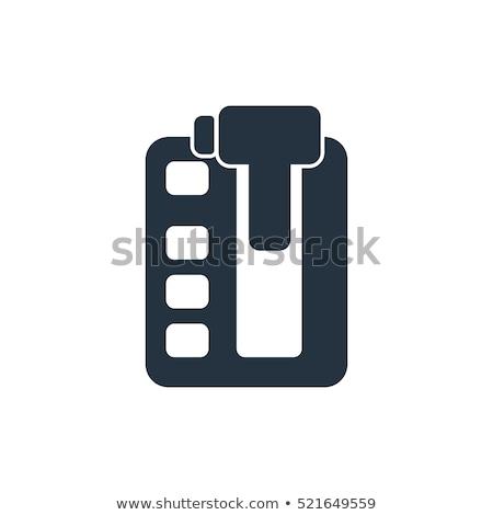 Vektor autó műszak ikon szimbólum autó Stock fotó © nickylarson974