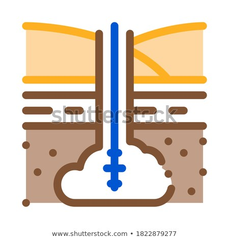 gas entry into ground icon vector outline illustration Stock photo © pikepicture