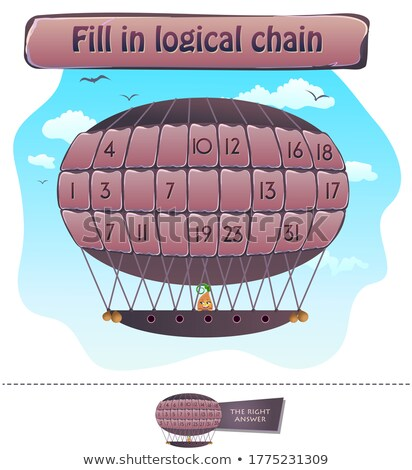 fill in logical chain  brainteaser Stock photo © Olena