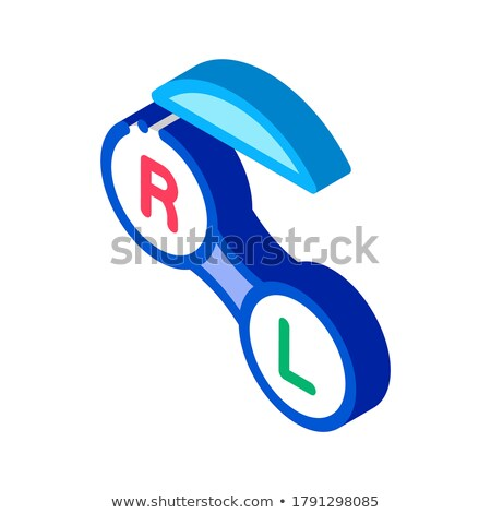 Improved Vision Contact Lens isometric icon vector illustration Stock photo © pikepicture