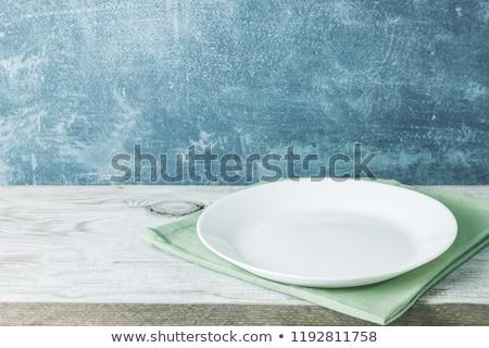 vazio · branco · prato · jantar · limpar - foto stock © tatik22