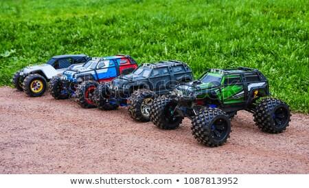 radio · control · coche · monstruo · camión · playa - foto stock © kenishirotie