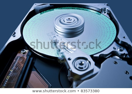 hard disk drive with data in extreme perspective Stock photo © gewoldi