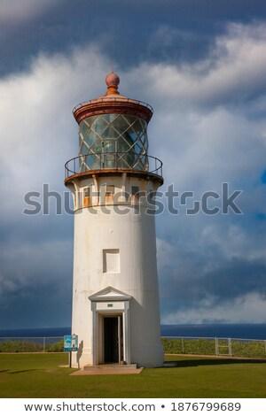 Faro isola shot bianco acqua Ocean Foto d'archivio © pixelsnap