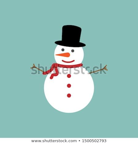 雪 男 家族 雪だるま 父 母親 ストックフォト © Soleil