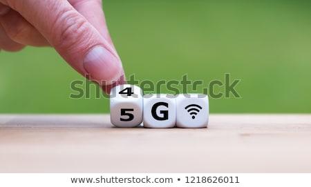 4g cartas moderno preto computador Foto stock © iqoncept
