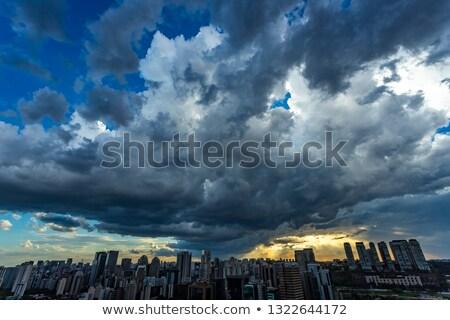 stormy sky over sao paulo stock photo © spectral
