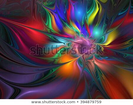 セクション フラクタル 画像 虹色 デザイン 芸術 ストックフォト © latent