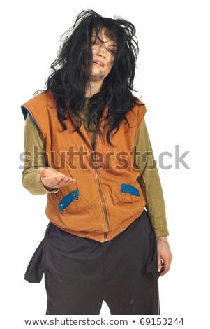 Pauvres mendiant femme pièce pain Photo stock © marylooo