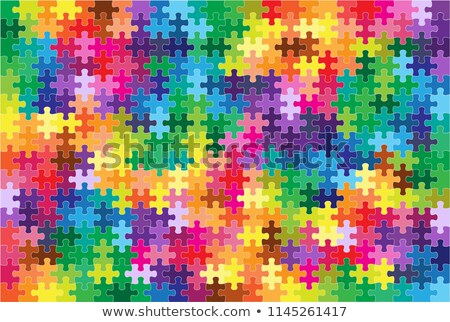 Colorful puzzle in various shapes Stock photo © carenas1